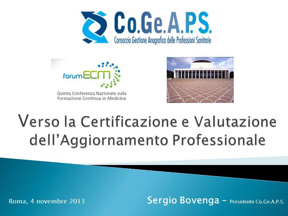 Verso la Certificazione e Valutazione dell'Aggiornamento Professionale
