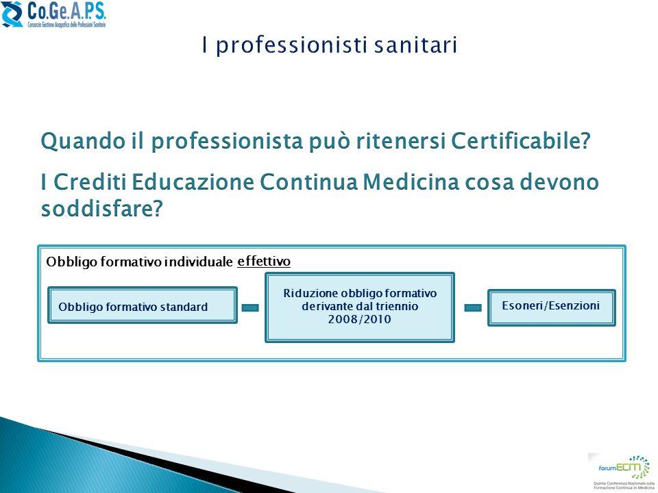 I professionisti sanitari