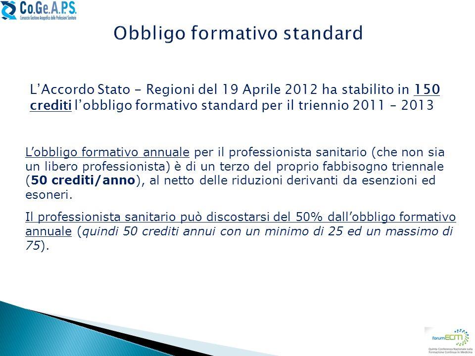 Obbligo formativo standard