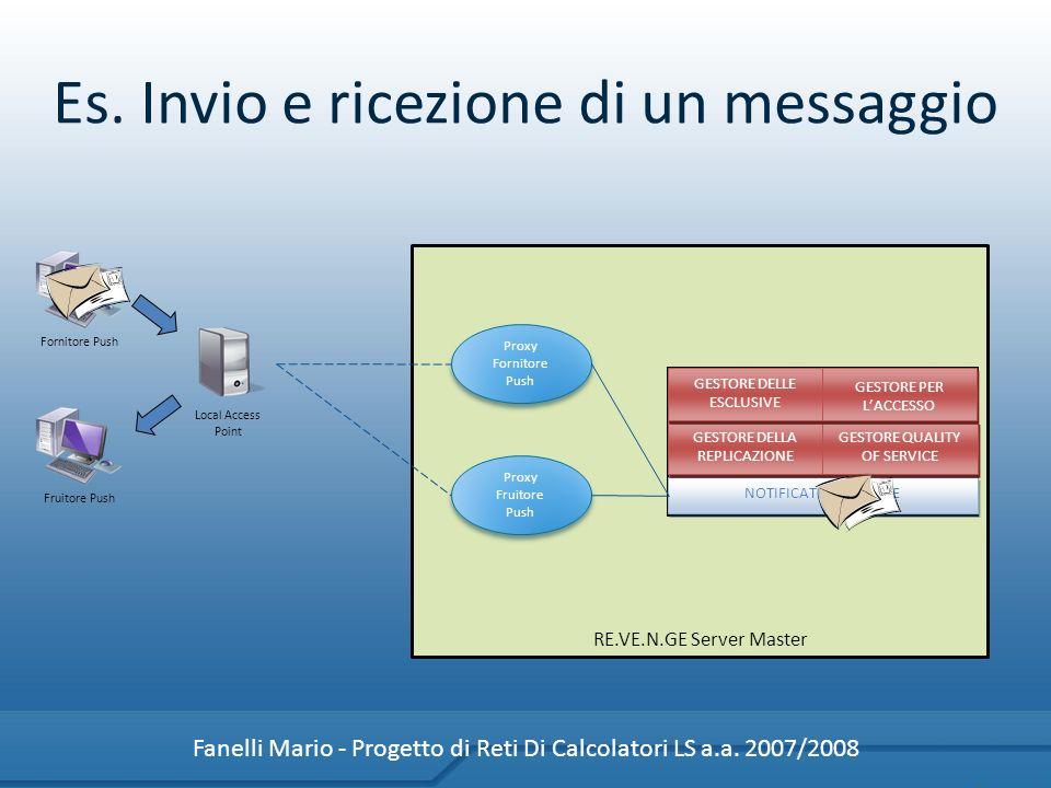Es. Invio e ricezione di un messaggio