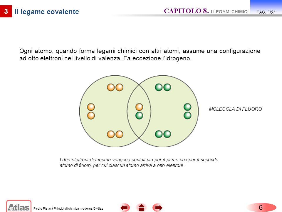 CAPITOLO 8. I LEGAMI CHIMICI Il legame covalente