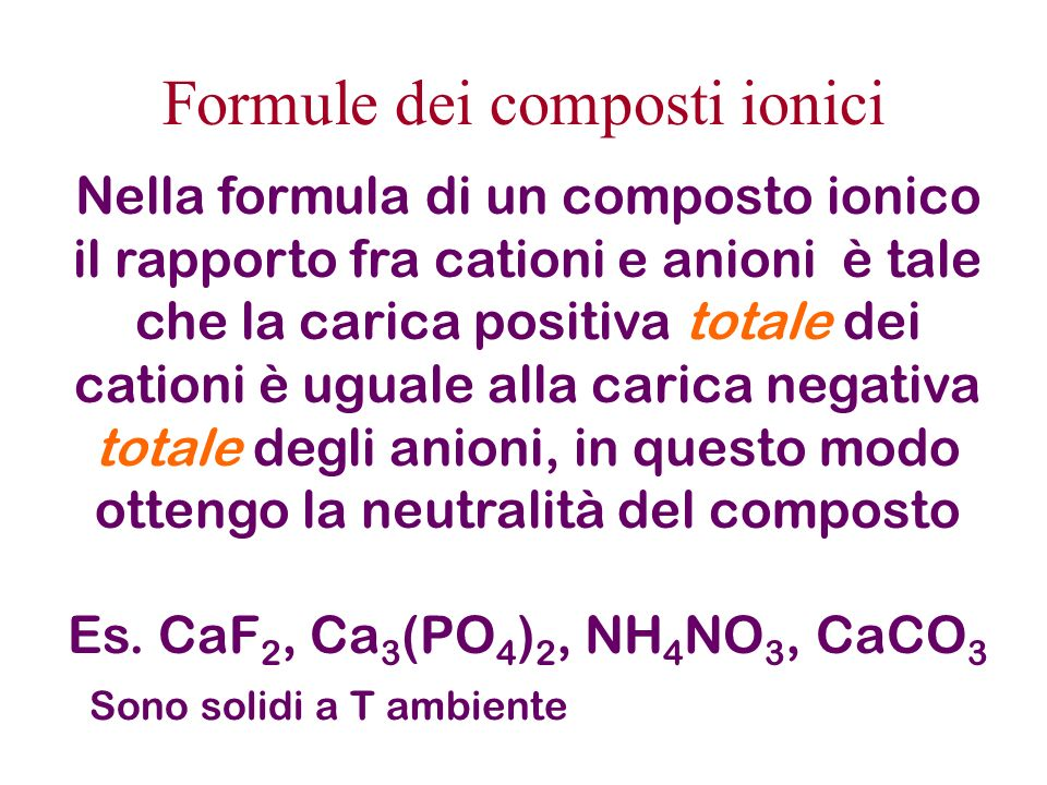 Formule dei composti ionici