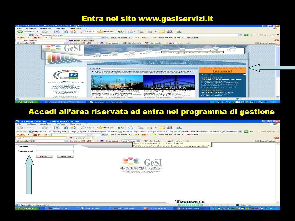 Entra nel sito www.gesiservizi.it