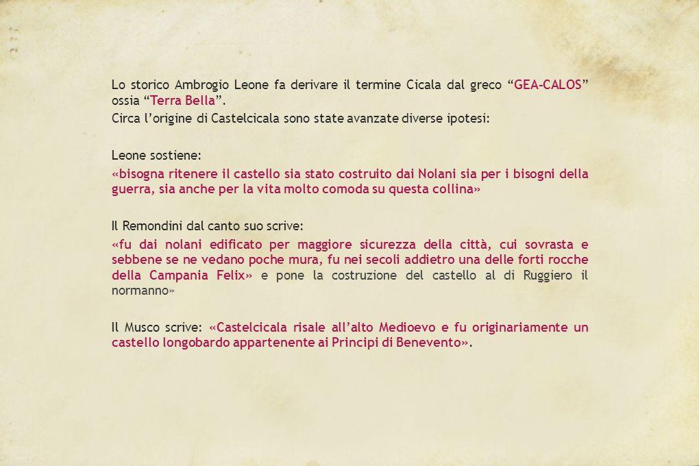 Lo storico Ambrogio Leone fa derivare il termine Cicala dal greco GEA-CALOS ossia Terra Bella .