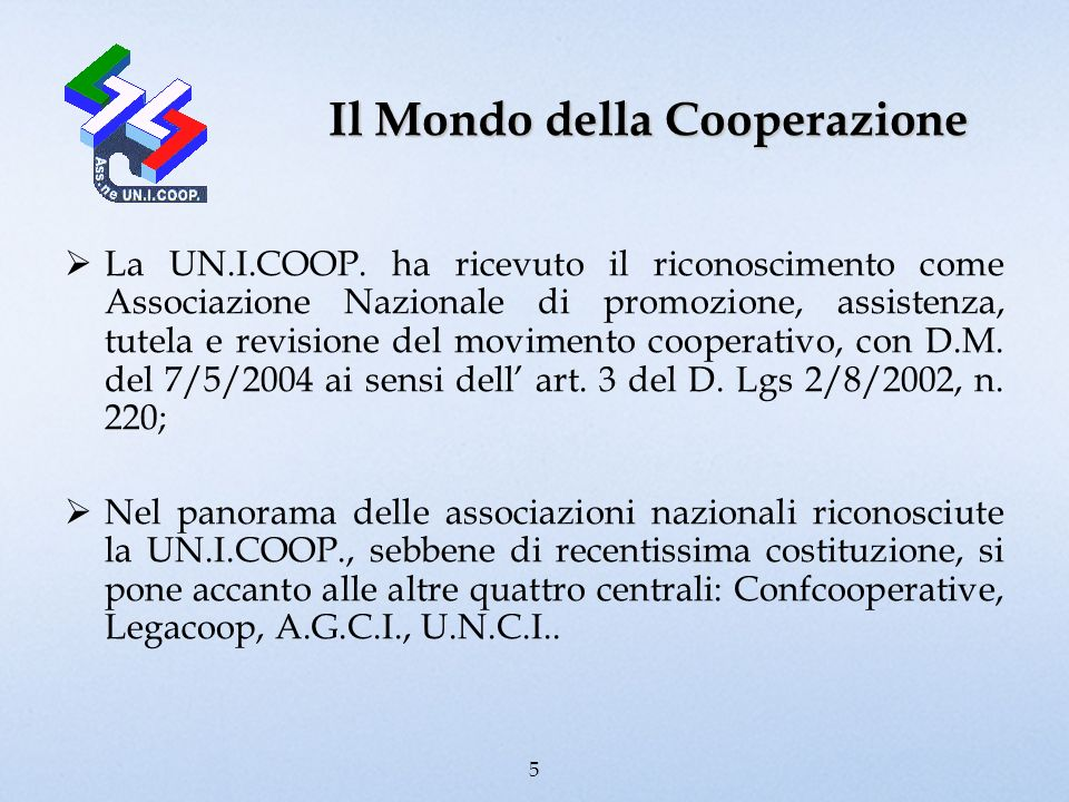 Il Mondo della Cooperazione