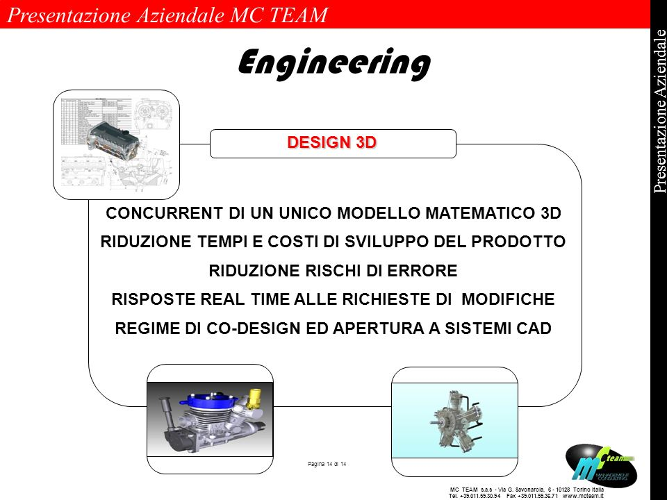 Engineering DESIGN 3D CONCURRENT DI UN UNICO MODELLO MATEMATICO 3D