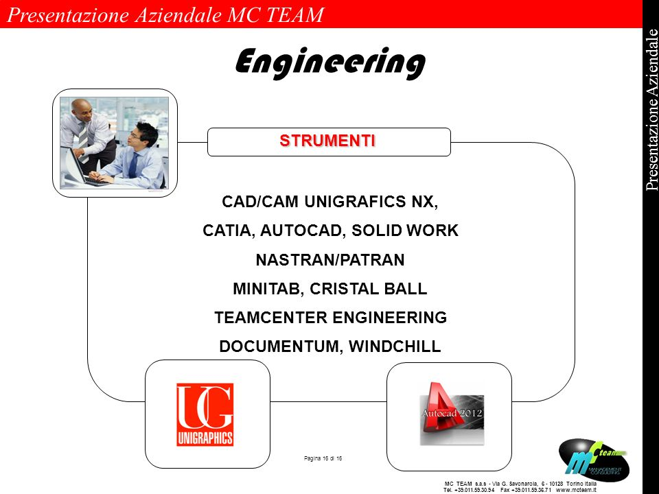 CATIA, AUTOCAD, SOLID WORK TEAMCENTER ENGINEERING