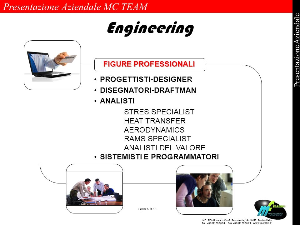 Engineering FIGURE PROFESSIONALI PROGETTISTI-DESIGNER