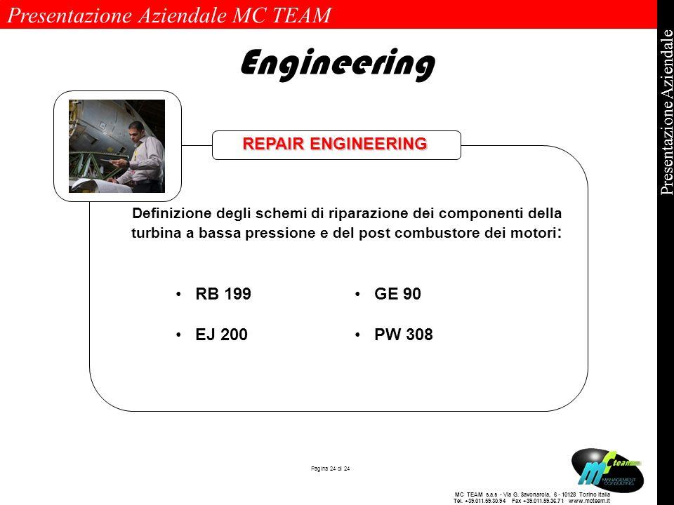 Engineering REPAIR ENGINEERING RB 199 EJ 200 GE 90 PW 308