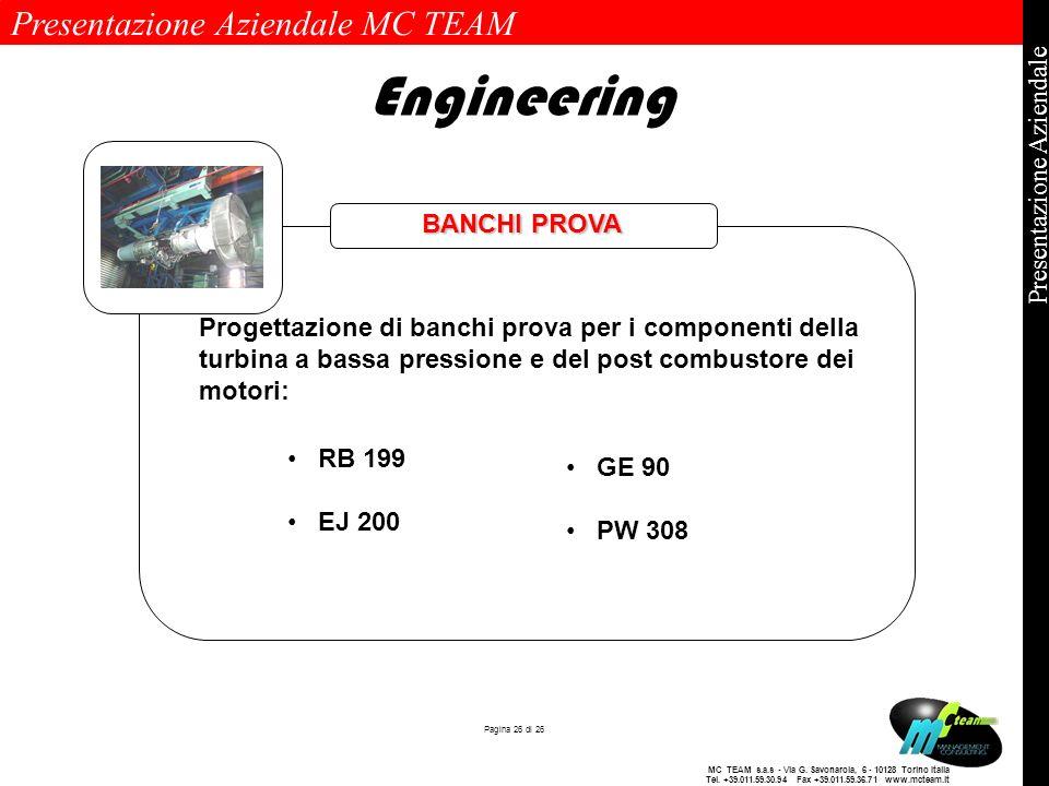 Engineering Banchi prova BANCHI PROVA