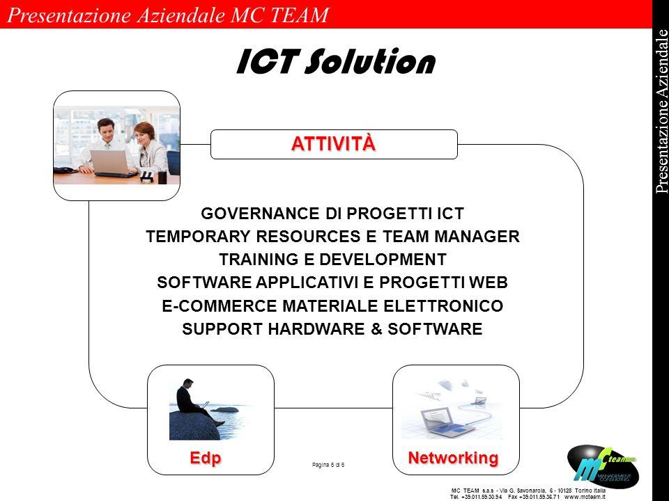ICT Solution ATTIVITÀ GOVERNANCE DI PROGETTI ICT