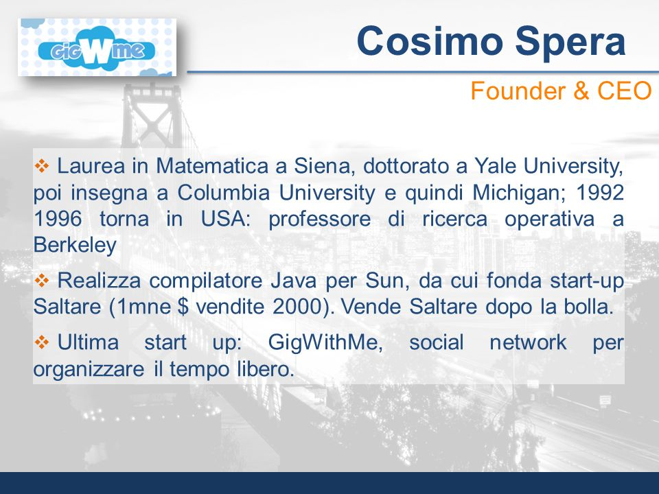 Cosimo Spera Founder & CEO