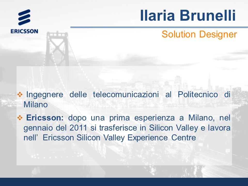 Ilaria Brunelli Solution Designer