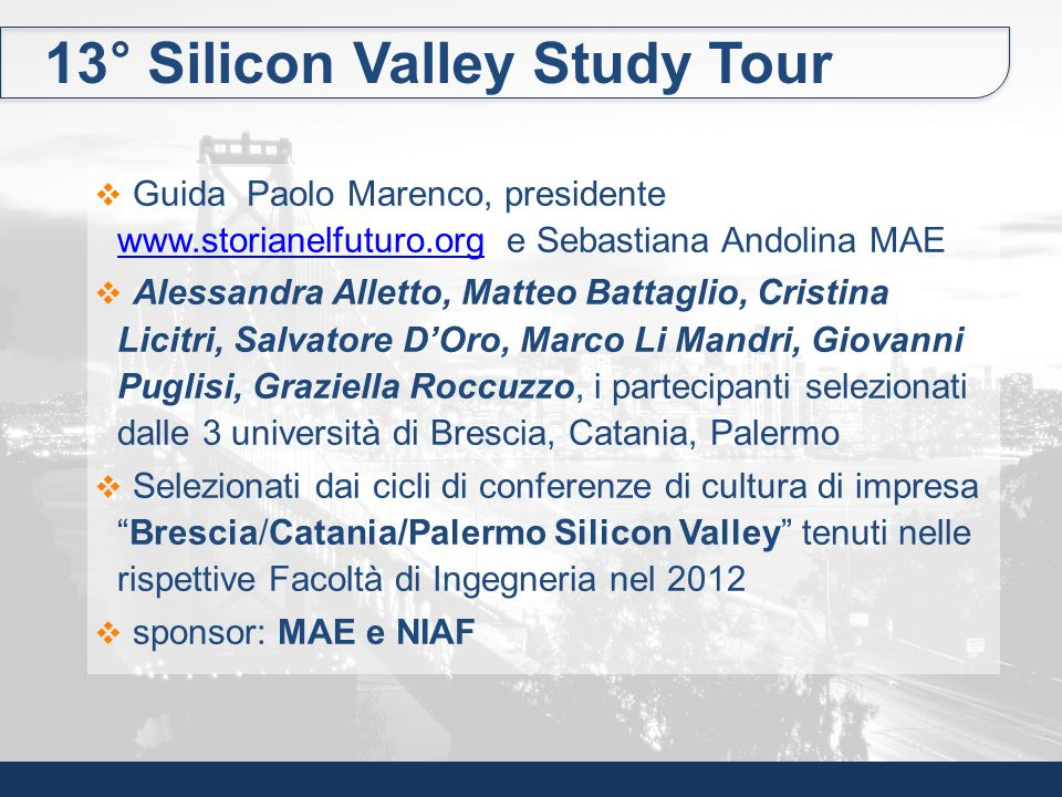 13° Silicon Valley Study Tour