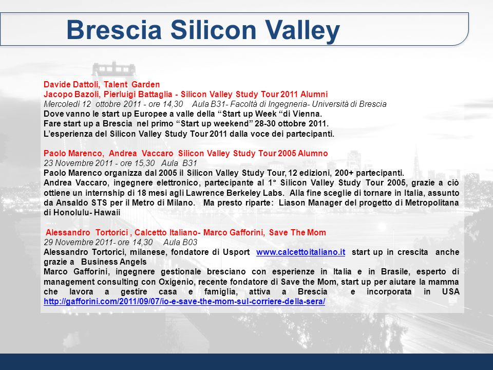 Brescia Silicon Valley