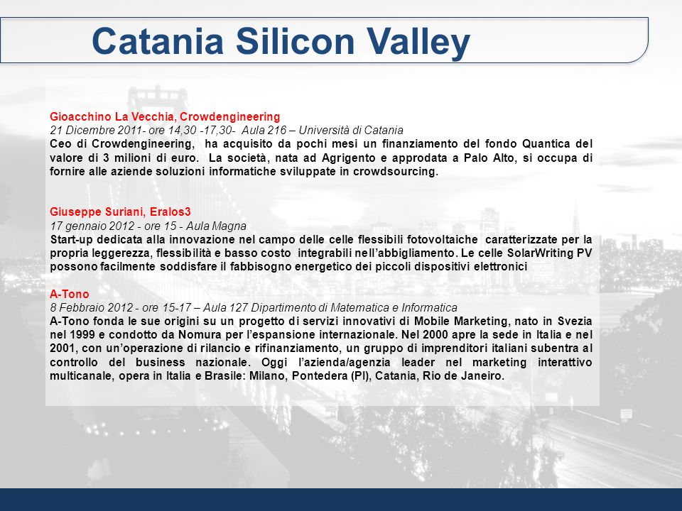 Catania Silicon Valley