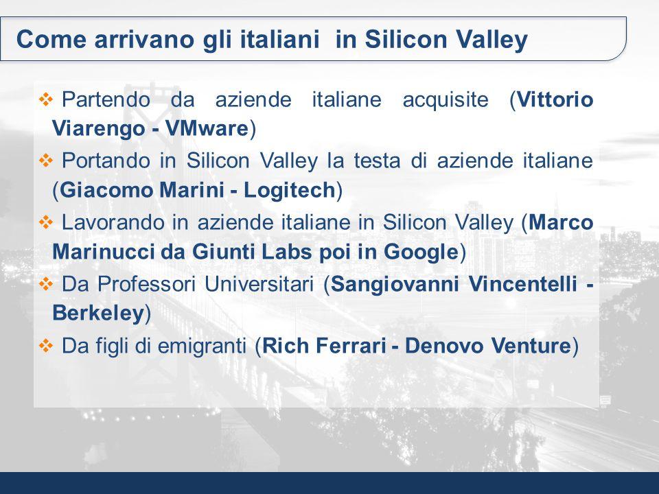 Come arrivano gli italiani in Silicon Valley