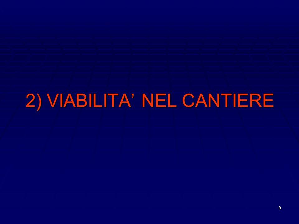 2) VIABILITA' NEL CANTIERE
