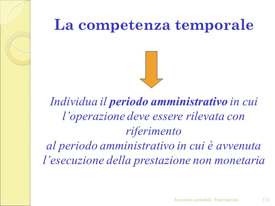 La competenza temporale