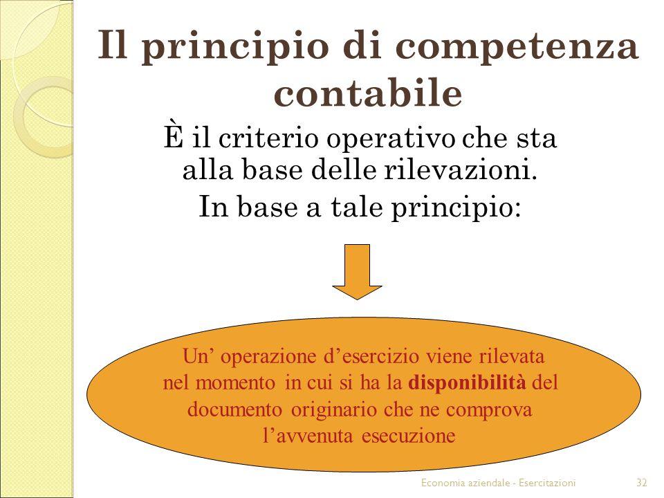 Il principio di competenza contabile