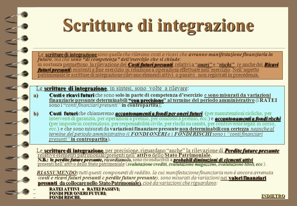 Scritture di integrazione