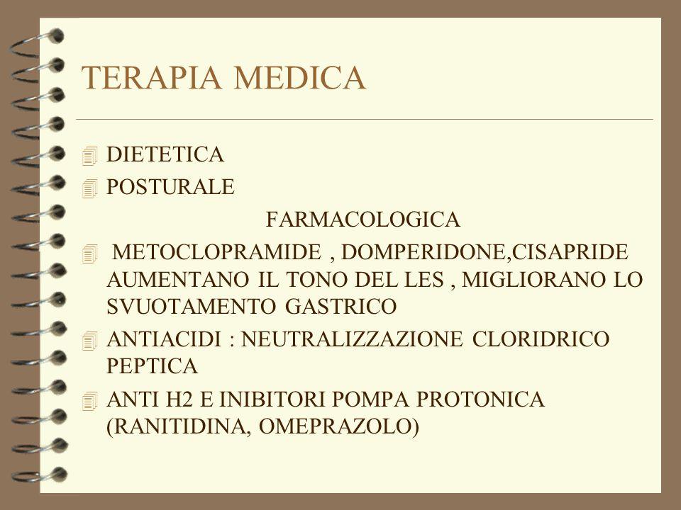 TERAPIA MEDICA DIETETICA POSTURALE FARMACOLOGICA