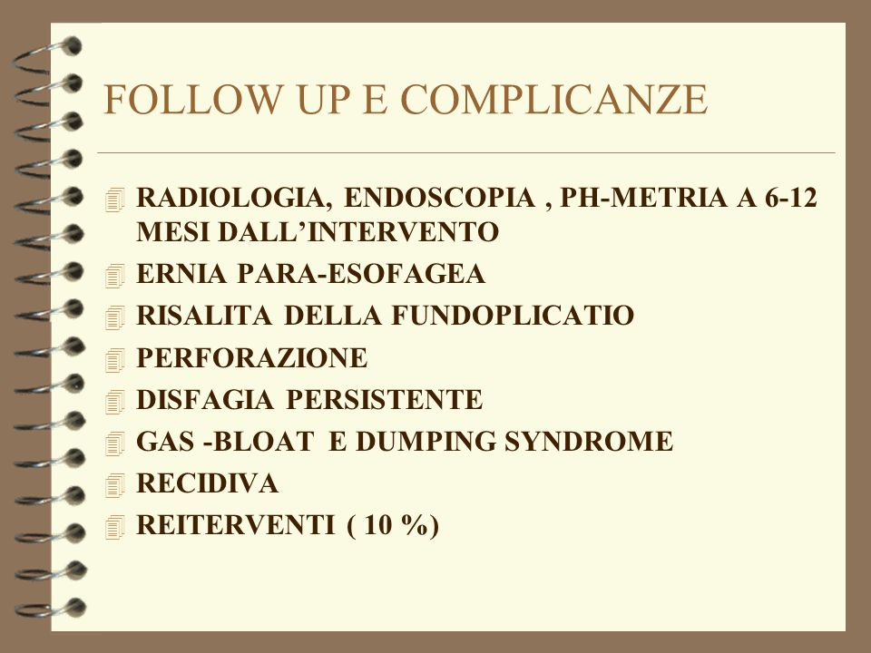 FOLLOW UP E COMPLICANZE