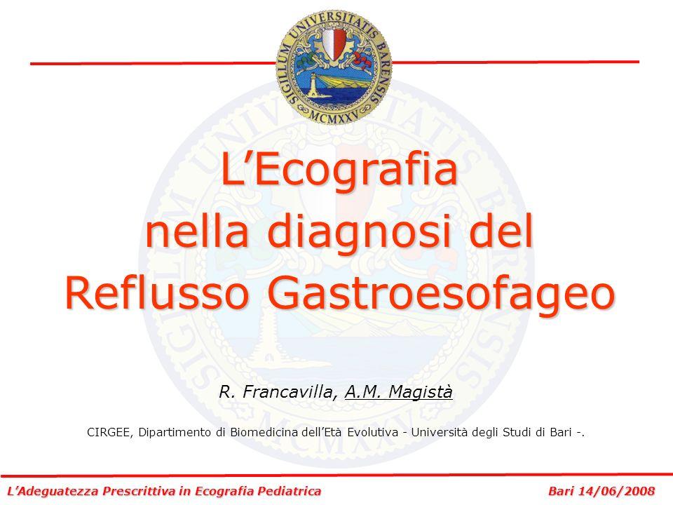 L'Ecografia nella diagnosi del Reflusso Gastroesofageo