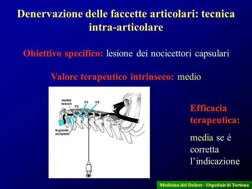 Denervazione delle faccette articolari: tecnica intra-articolare