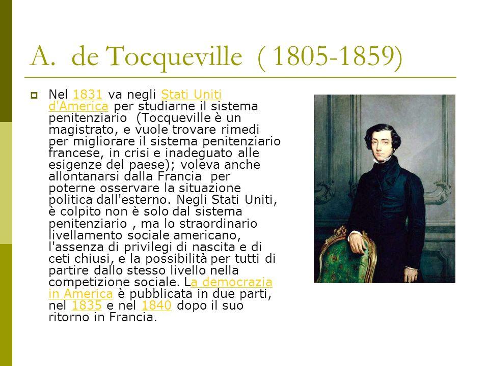 A. de Tocqueville ( 1805-1859)