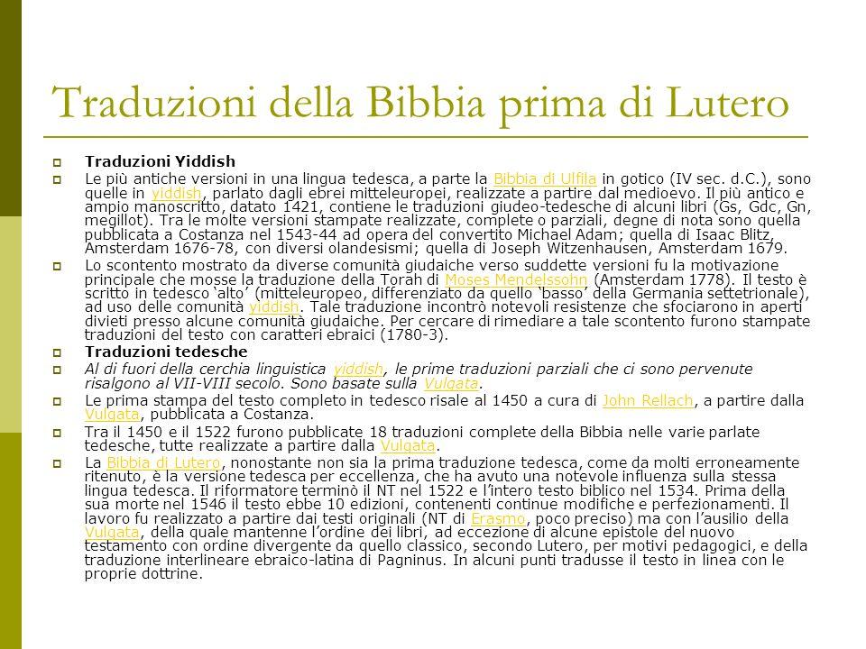 Traduzioni della Bibbia prima di Lutero
