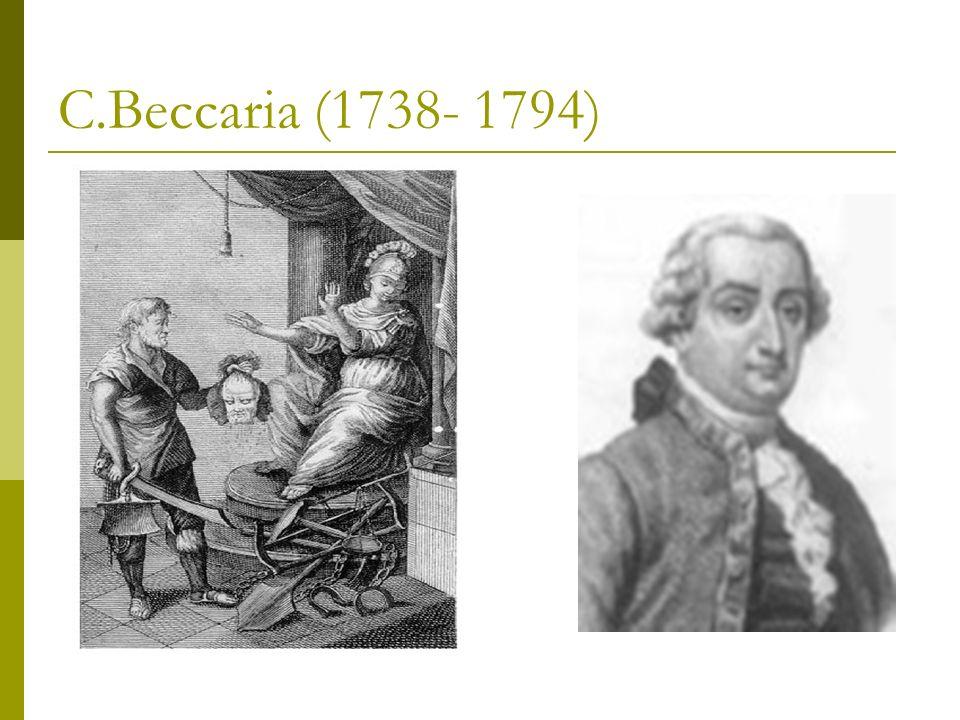 C.Beccaria (1738- 1794)