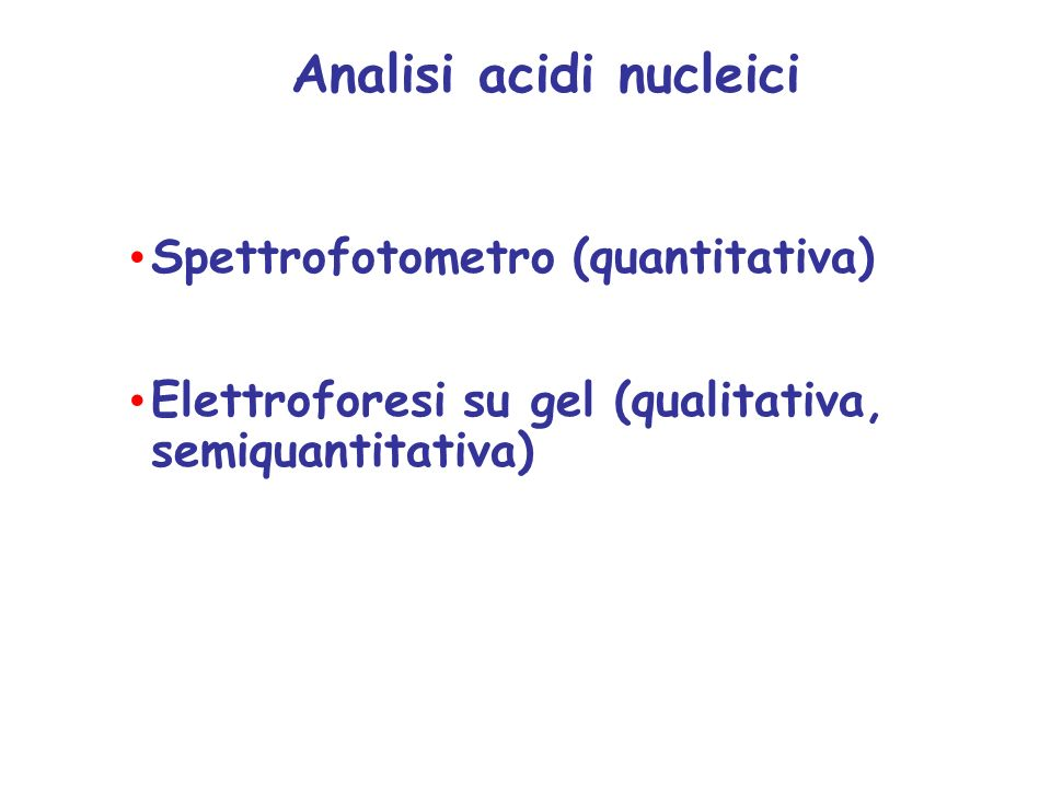 Analisi acidi nucleici
