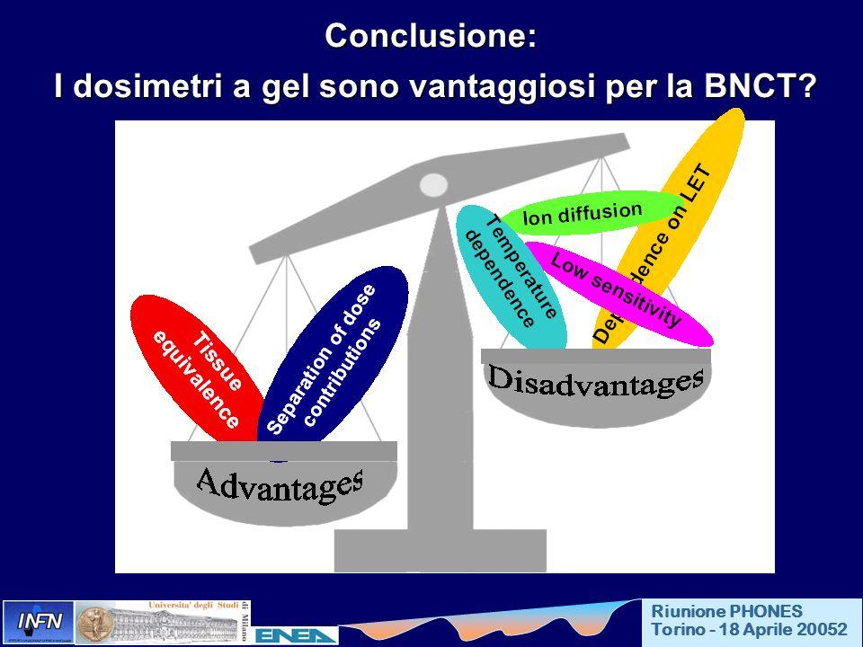 I dosimetri a gel sono vantaggiosi per la BNCT