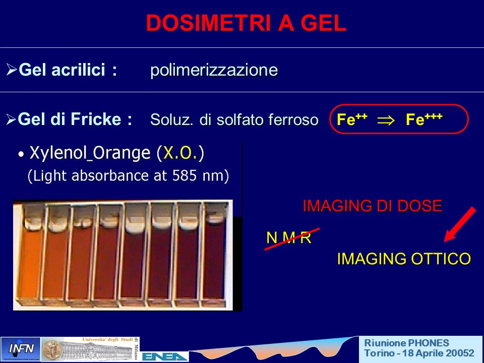 DOSIMETRI A GEL Gel acrilici : polimerizzazione