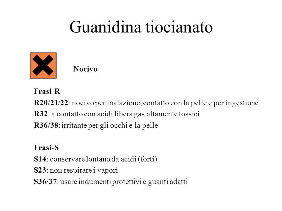 Guanidina tiocianato Nocivo Frasi-R