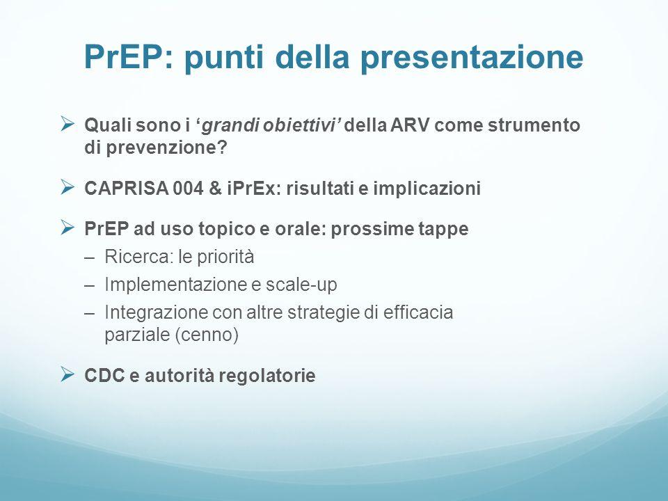 PrEP: punti della presentazione
