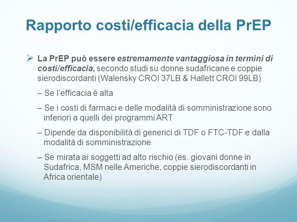 Rapporto costi/efficacia della PrEP