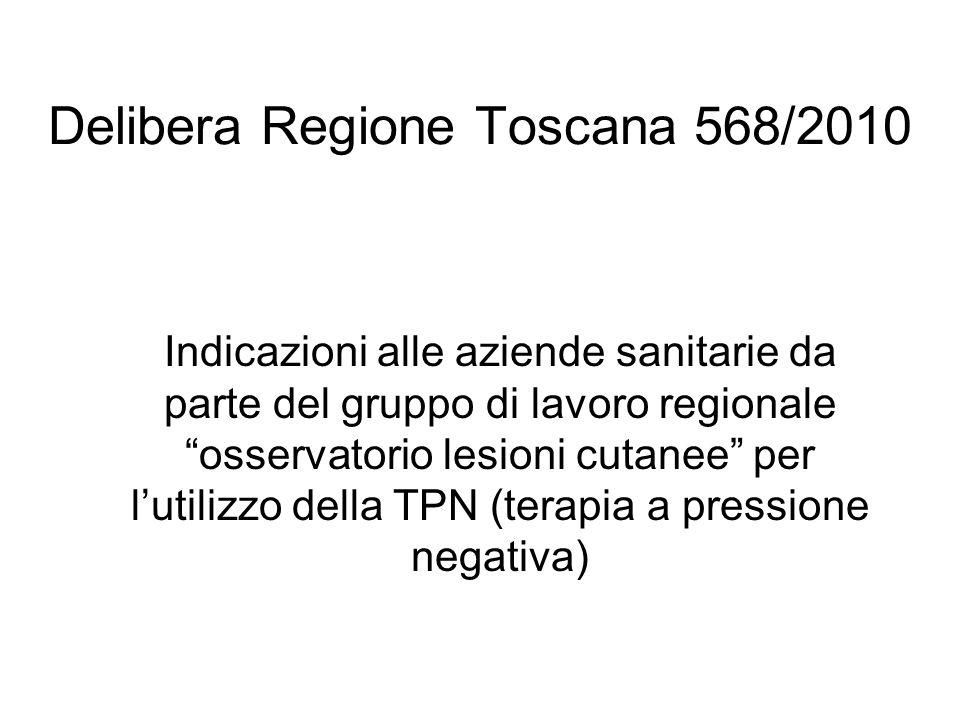 Delibera Regione Toscana 568/2010