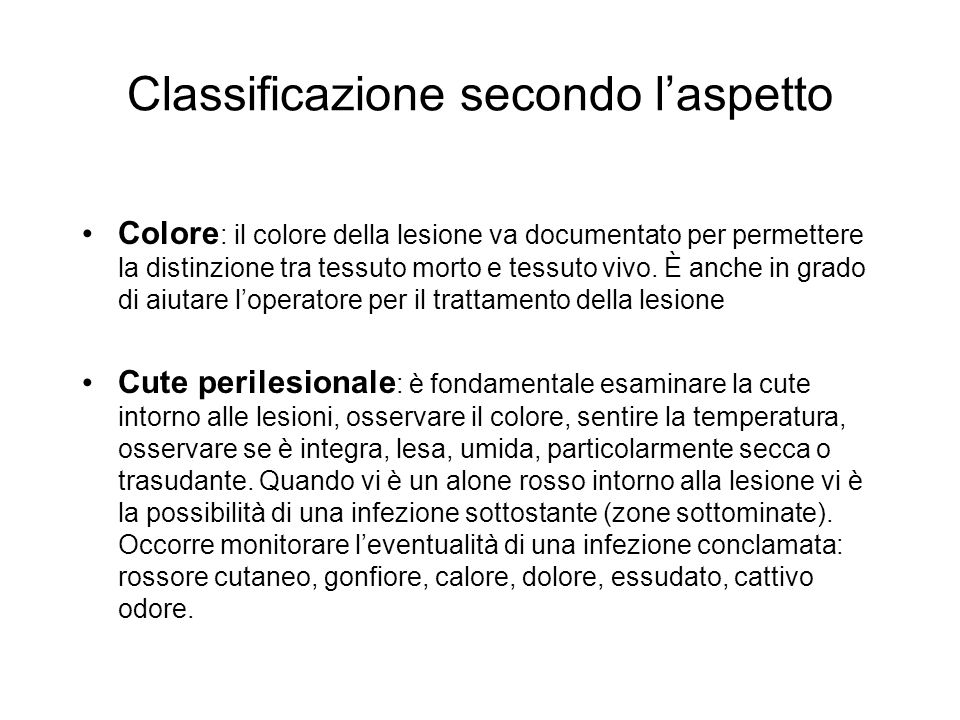 Classificazione secondo l'aspetto