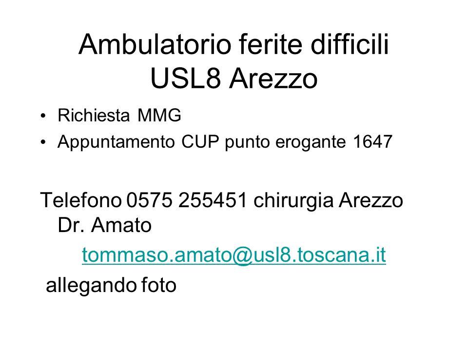 Ambulatorio ferite difficili USL8 Arezzo