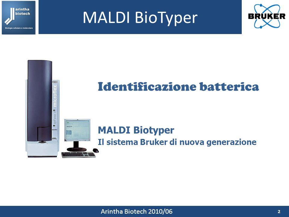 MALDI BioTyper Identificazione batterica MALDI Biotyper