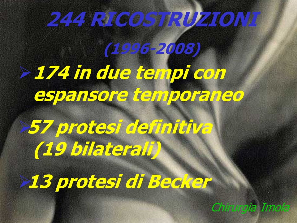 244 RICOSTRUZIONI 174 in due tempi con espansore temporaneo