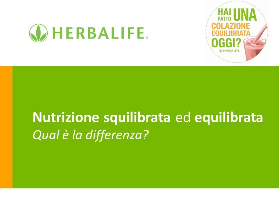 Nutrizione squilibrata ed equilibrata Qual è la differenza