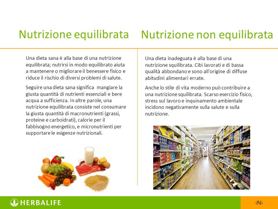 Nutrizione equilibrata