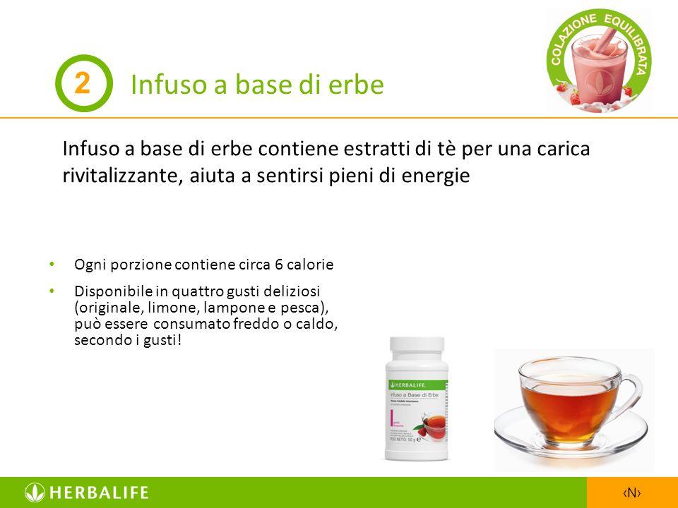 Infuso a base di erbe 2. Infuso a base di erbe contiene estratti di tè per una carica rivitalizzante, aiuta a sentirsi pieni di energie.