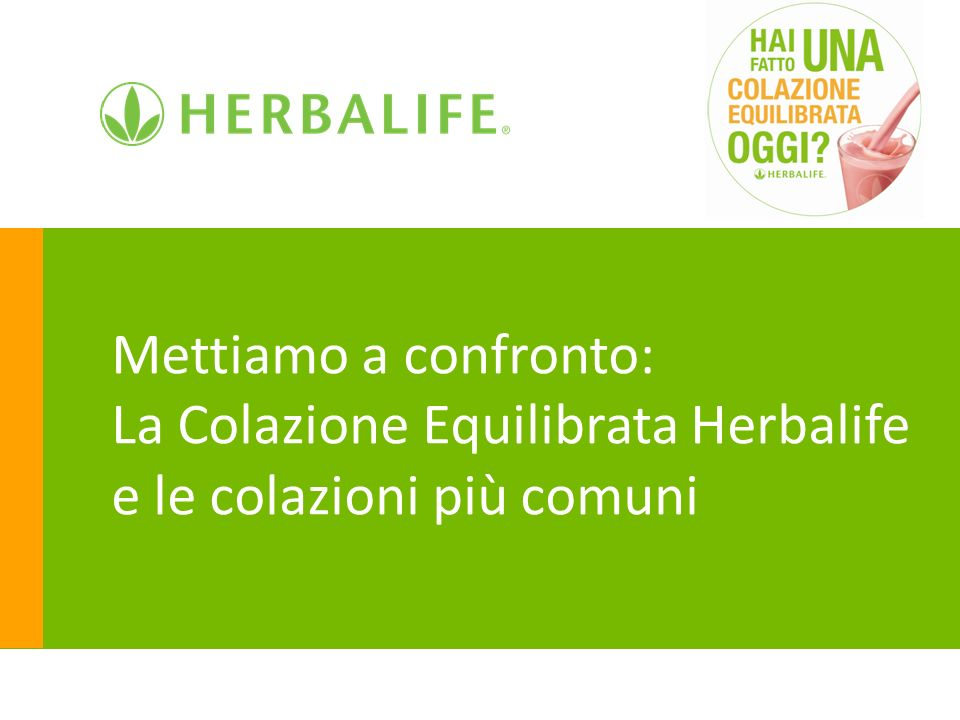 Mettiamo a confronto: La Colazione Equilibrata Herbalife e le colazioni più comuni