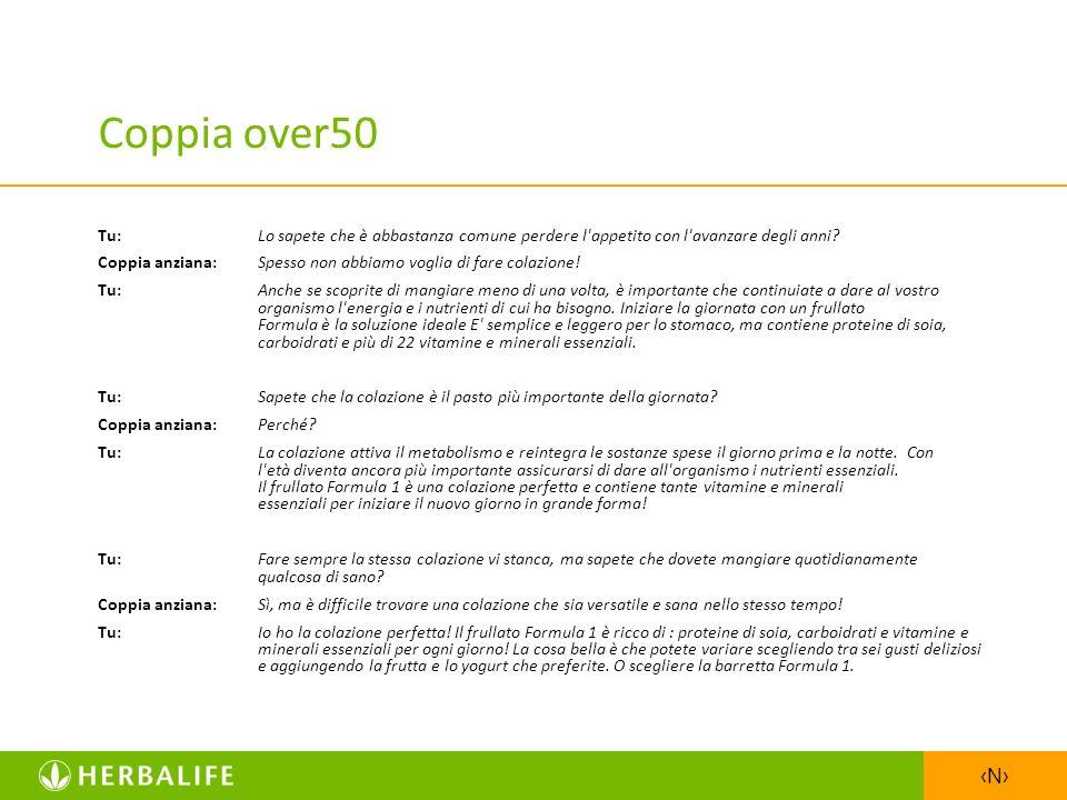 Coppia over50 Tu: Lo sapete che è abbastanza comune perdere l appetito con l avanzare degli anni