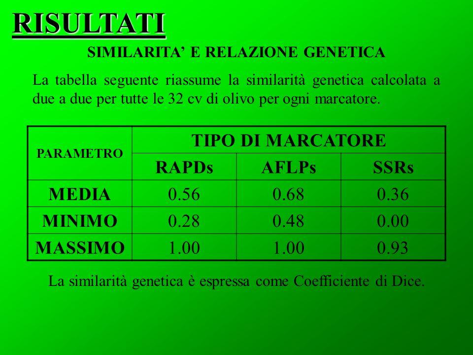 SIMILARITA' E RELAZIONE GENETICA