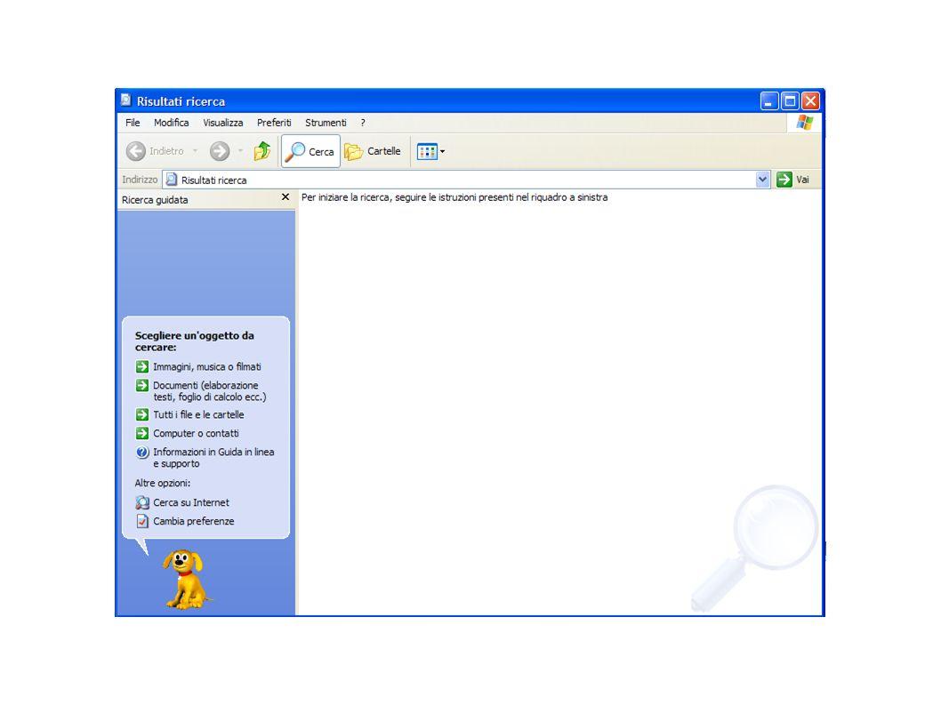 Presentazione 29 Sul lato sinistro della finestra ci sono dei filtri che permettono di velocizzare la ricerca da parte del nostro pc.